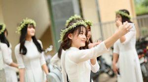 Bridesmaids in white dress
