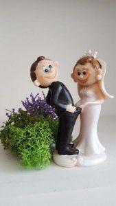 Couple figurine funny cake topper