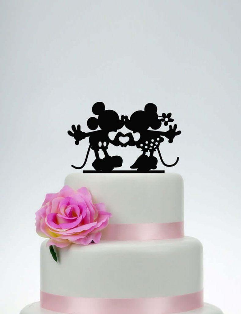 Disney wedding cake topper