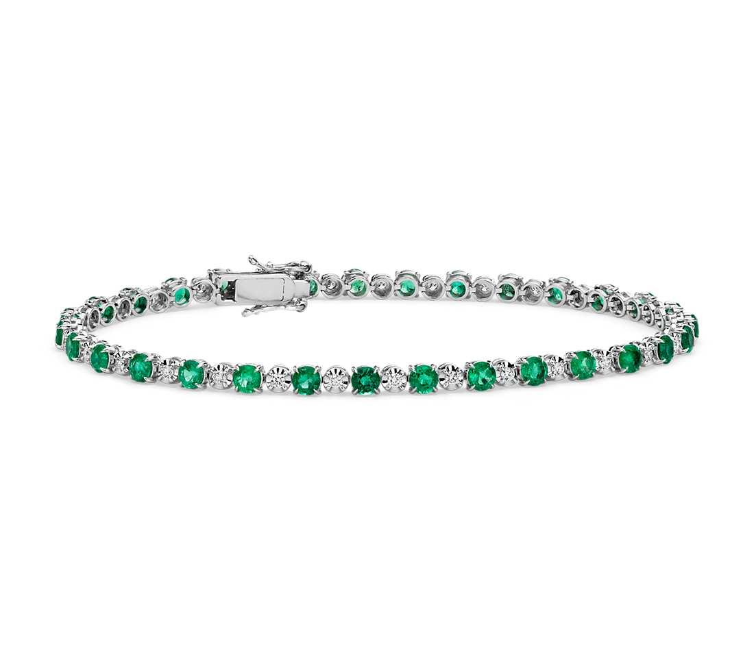 emerald-diamond-tennis-bracelet-blue-nile