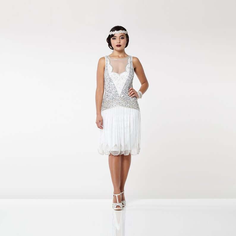 Flapper dress for plus size bride