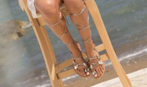 gladiator sandals for beach wedding guest