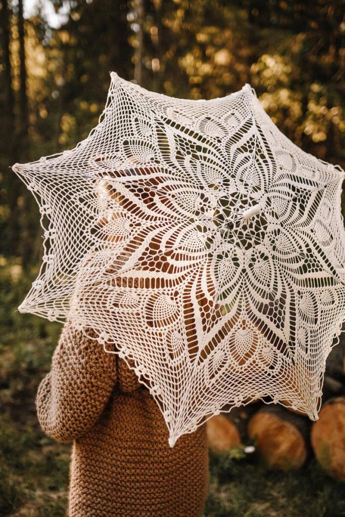 parasol for wedding guest