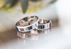 Rhodium plated rings
