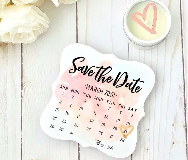 Calendar as save the date idea