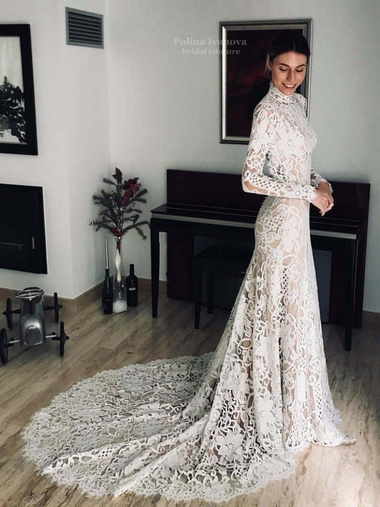 Long bridal dress