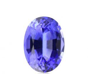 Loose oval shape tanzanite gemstone