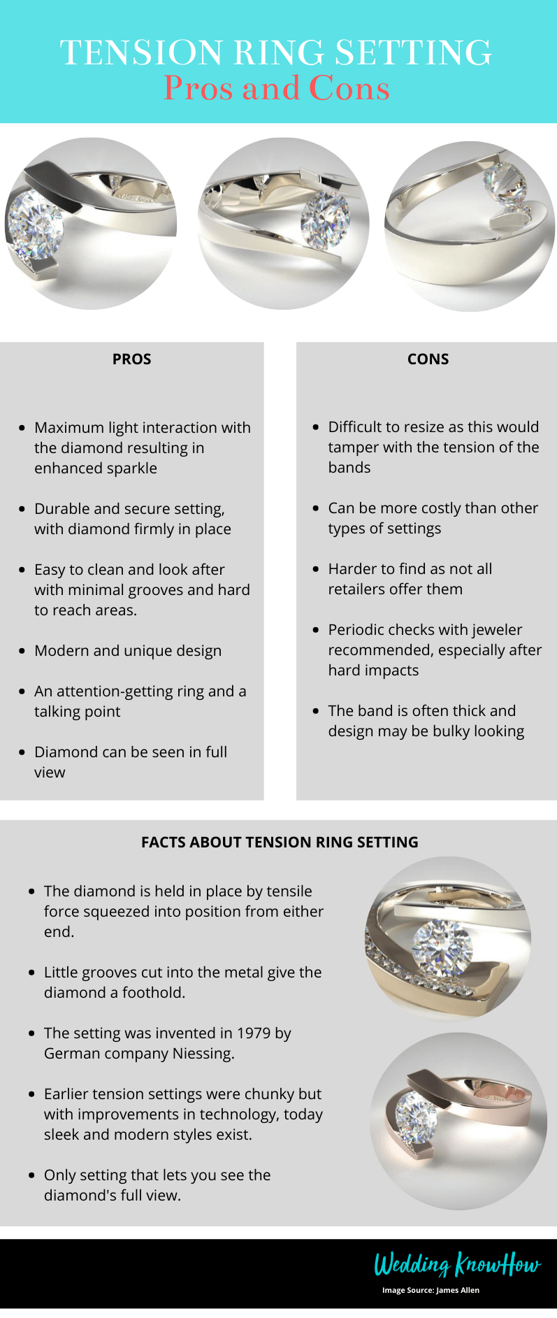 Tension engagement ring setting explained