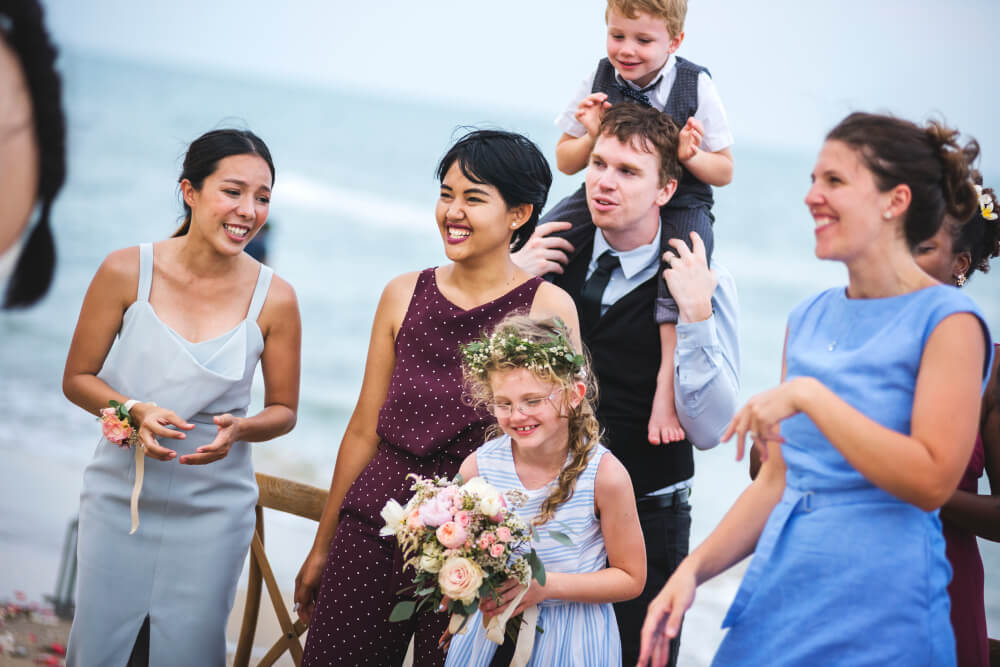 Wedding guest dress code for a beach venue