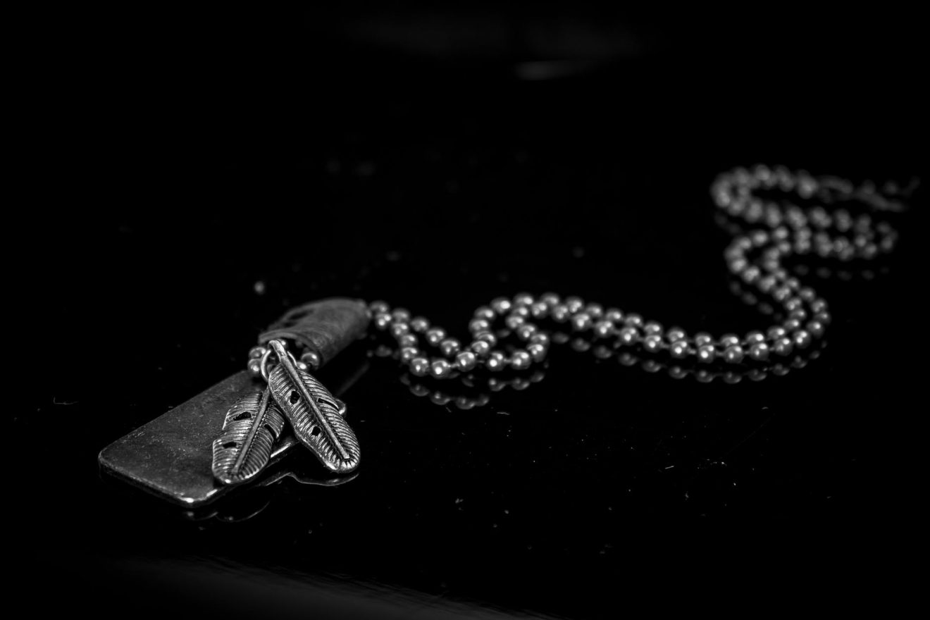 Gold chain on black background