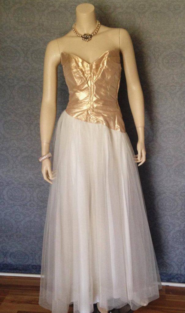 vintage asymmetrical dress