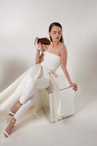 white bridal jumpsuit