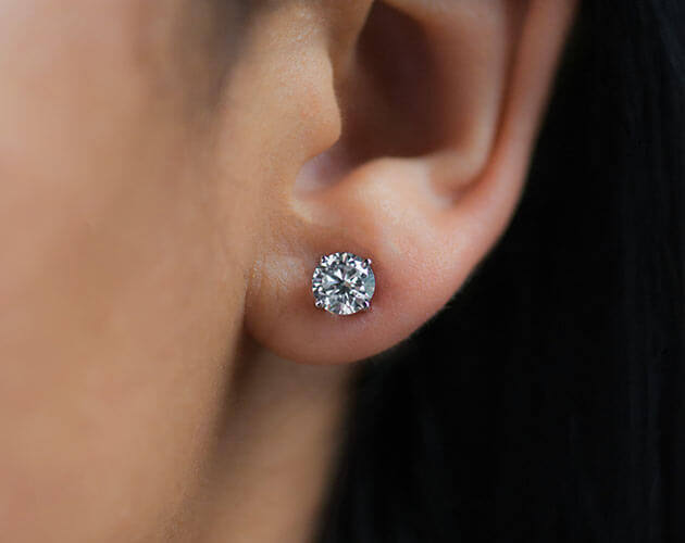 .50 carat diamond stud earring