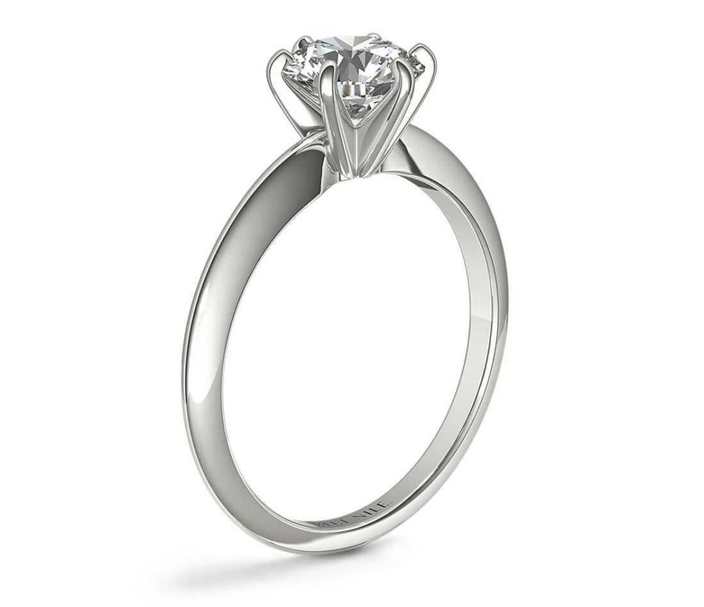 6 prong solitaire setting engagement ring