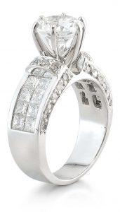 accent stones invisible setting ring