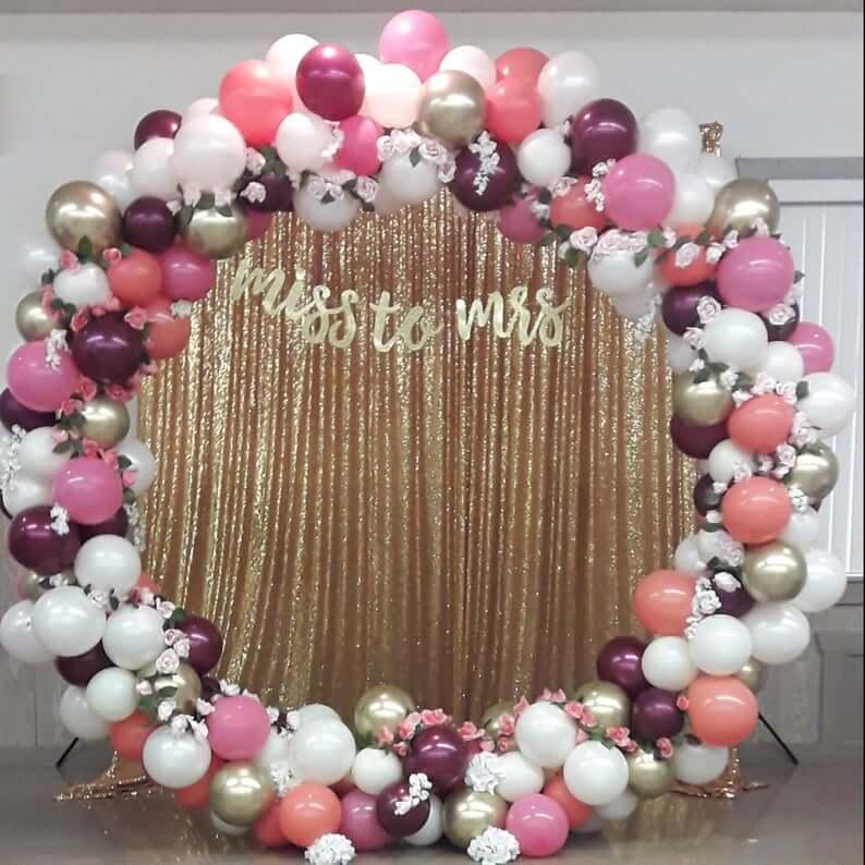 Round balloon wedding arch