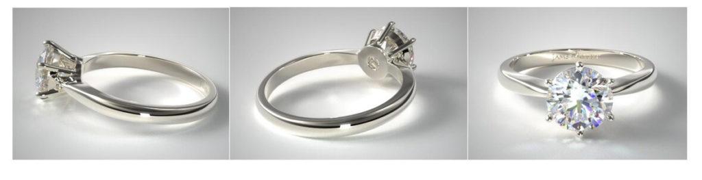 Basket setting engagement ring