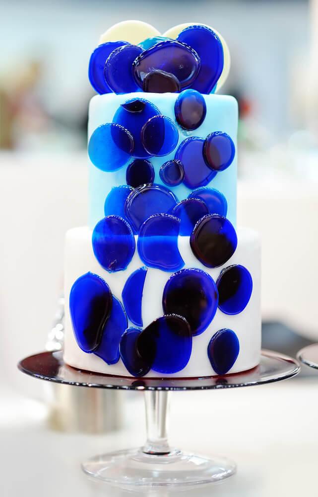 Blue dot cake
