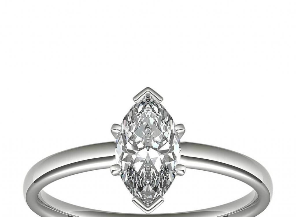marquise solitaire setting engagement ring