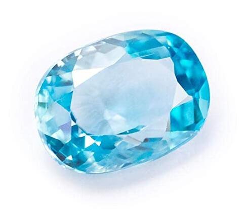 Blue zircon loose stone