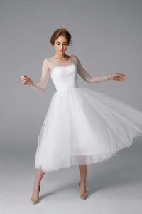 Bride in her reception dress