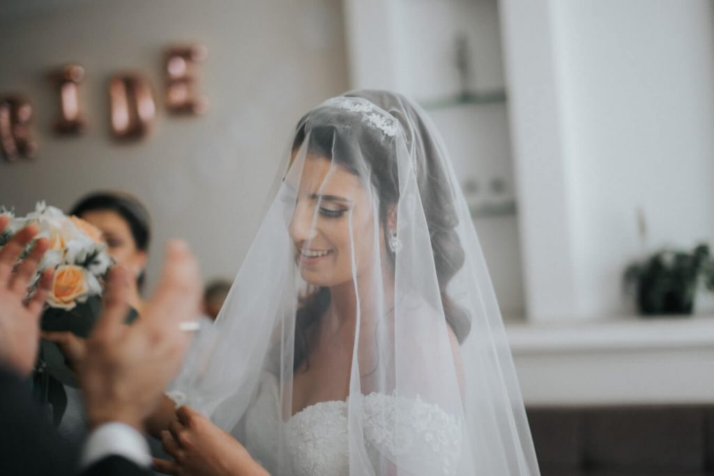 bridal veil and accessory