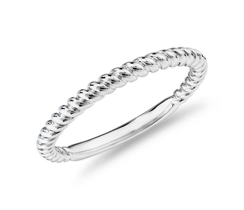 cable rope ring very nice engagement ring without stone