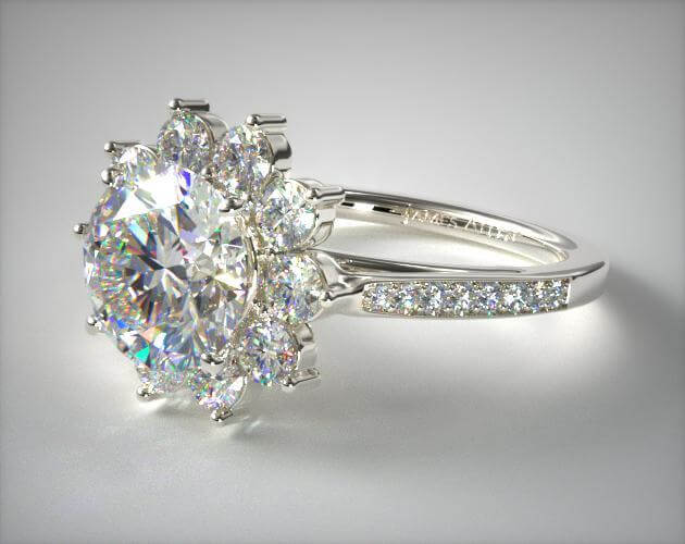 Cathedral star engagement ring