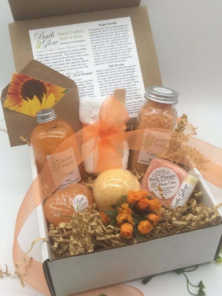 Citrus spa set for bridesmaids