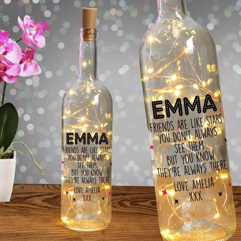 Custom light bottle for bridesmaids