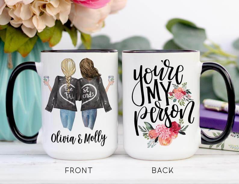 Custom mug best friend