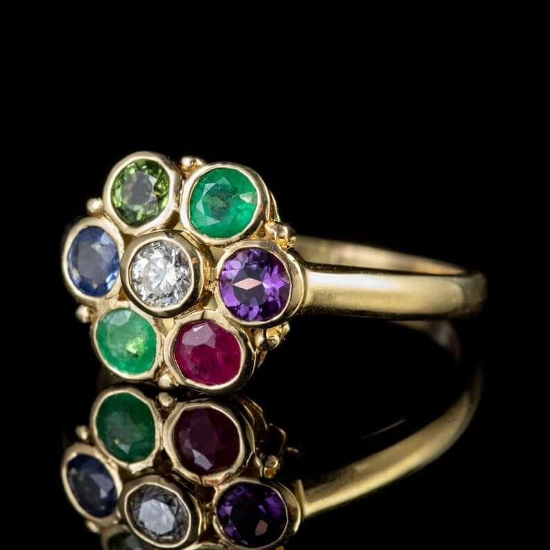 Dearest ring in flower design