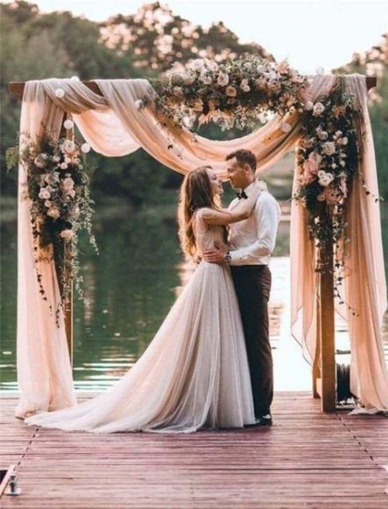 drapes wedding arches
