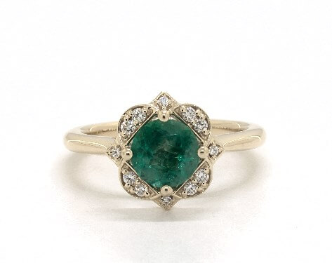 Edwardian emerald engagement ring