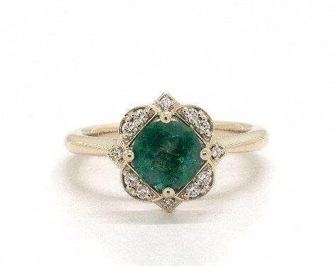 Edwardian emerald engagement ring