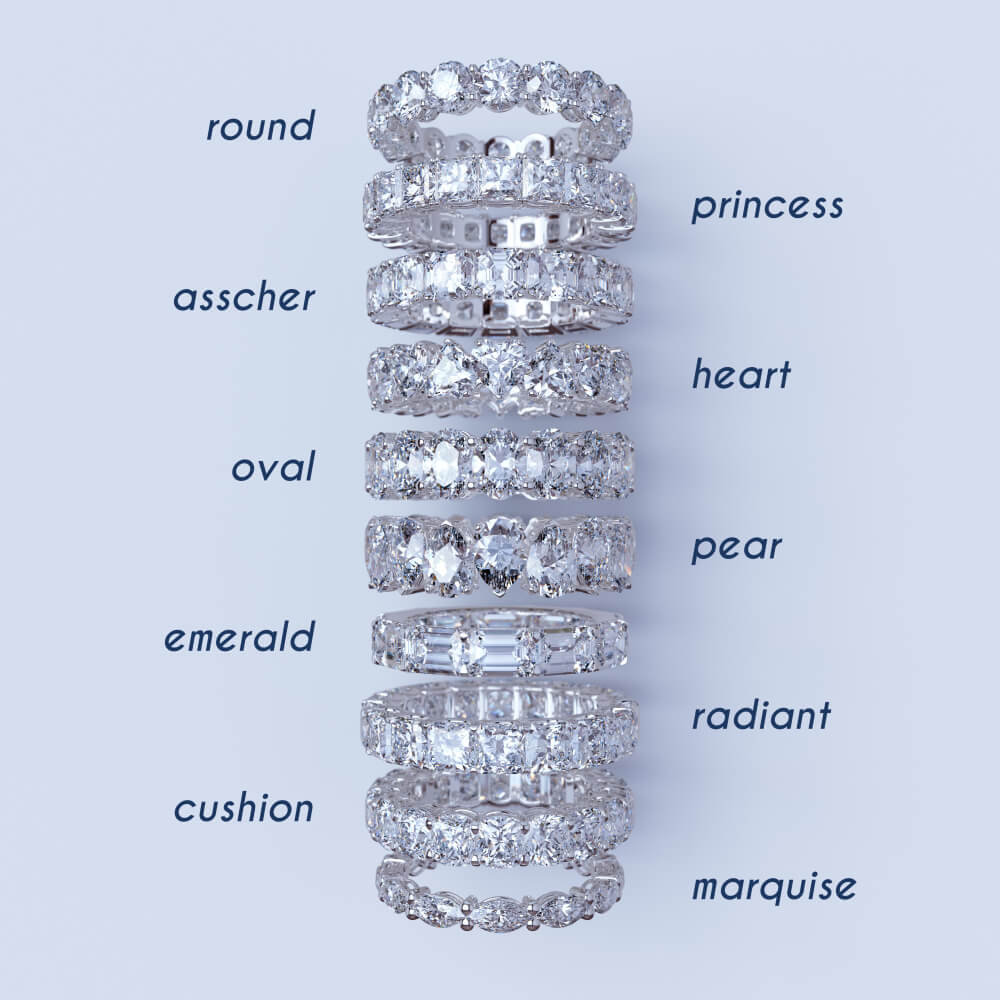 different types of eternity bands