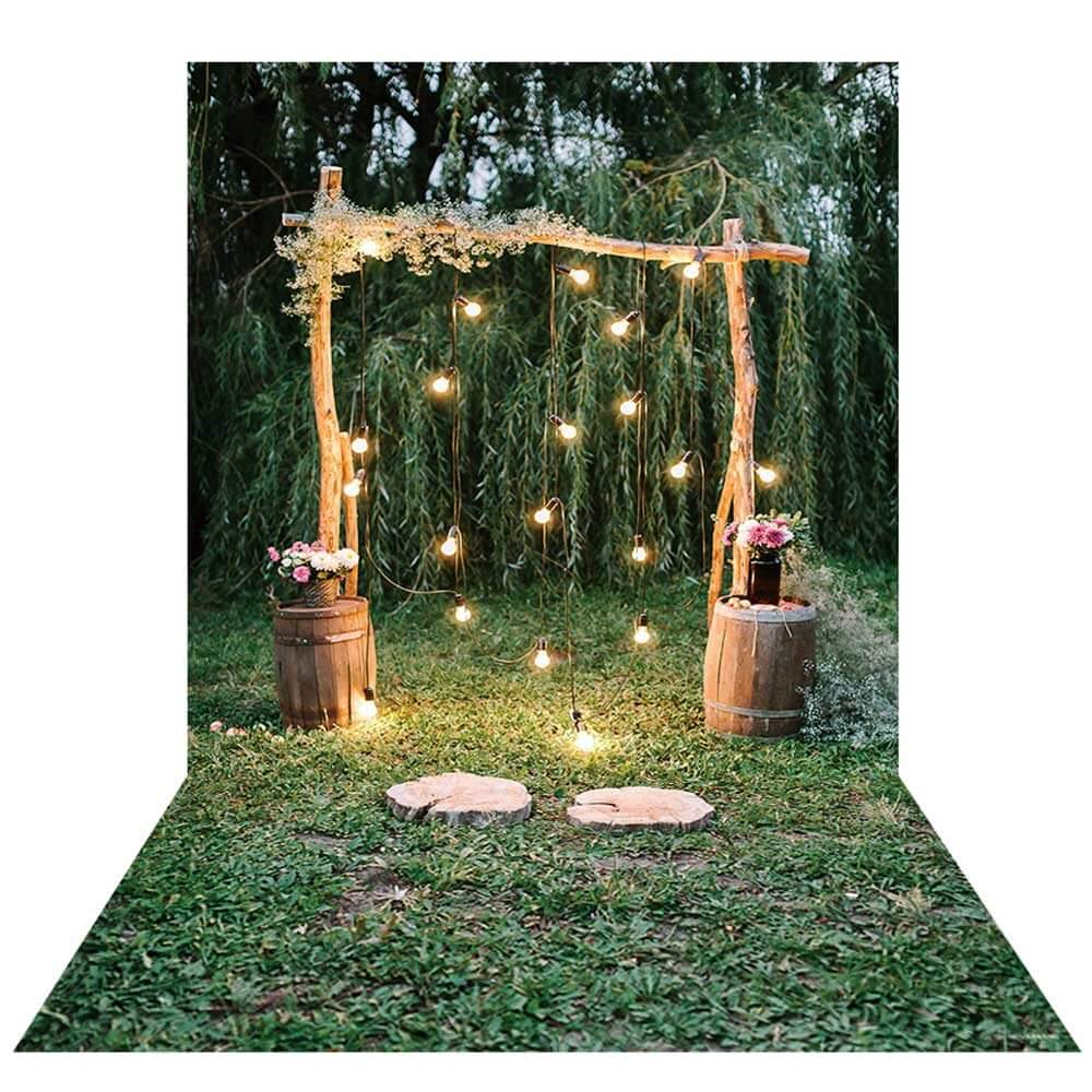 Fairy light wedding arch