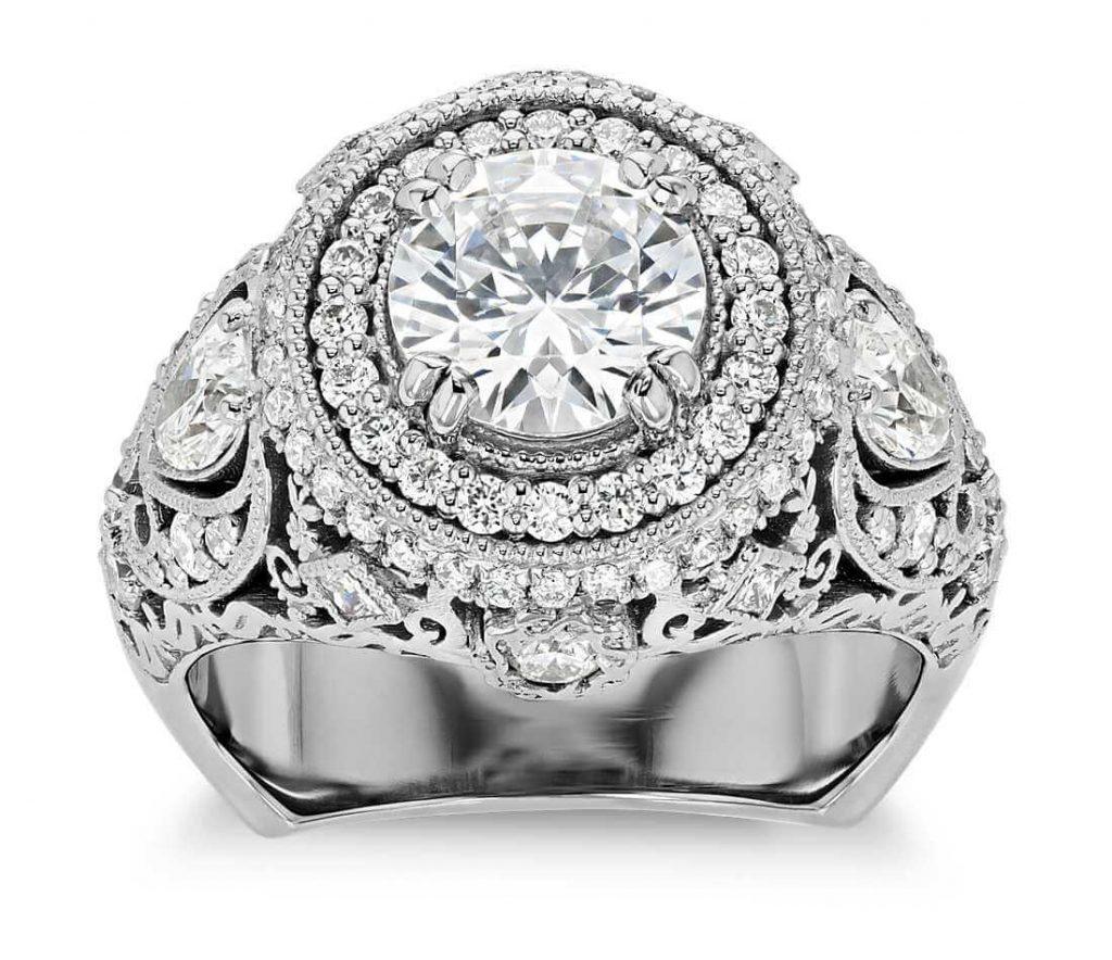 Large filigree ring