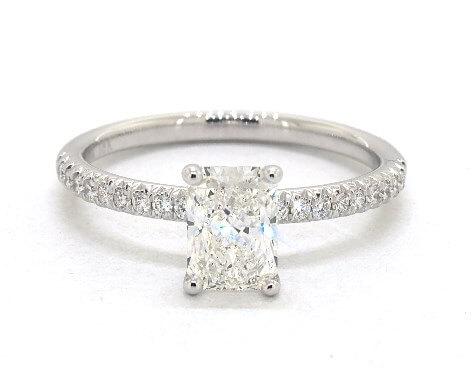 g color radiant cut diamond engagement ring