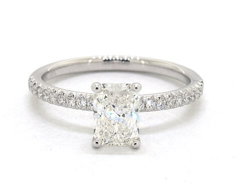 g color radiant cut diamond engagement ring