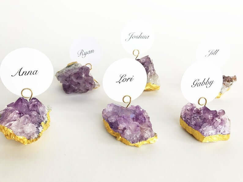 Geode place card holders