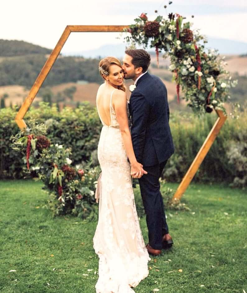 Geometric wedding arch