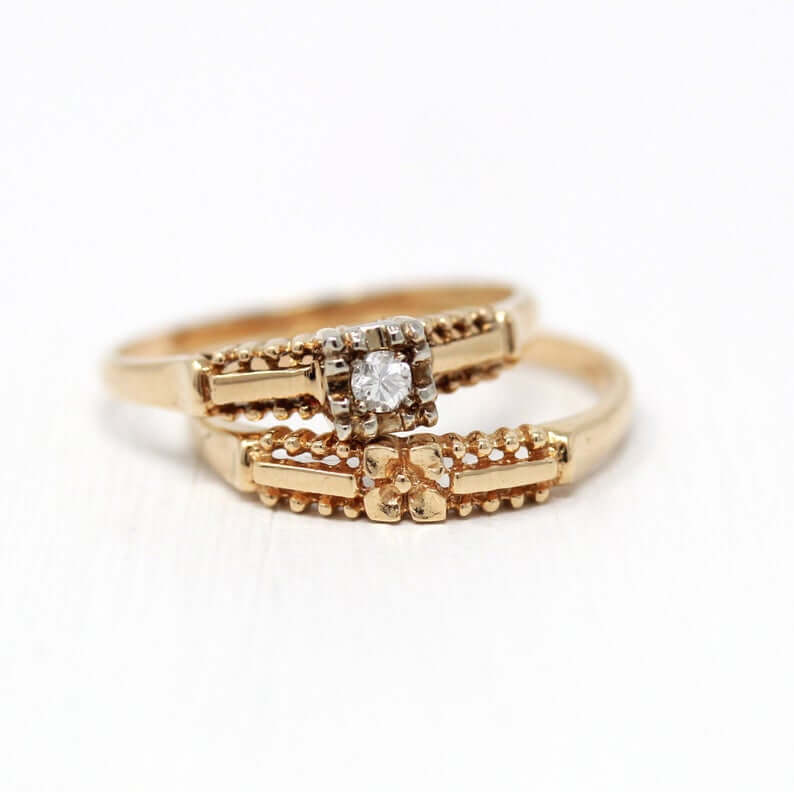 1940s rings with yellow gold