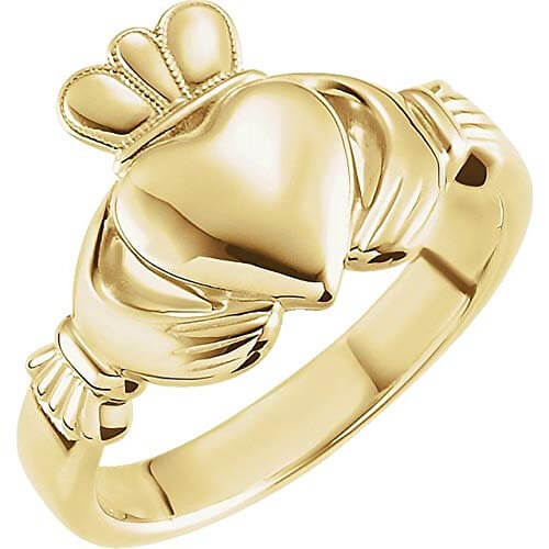 gold-claddagh engagement ring without stone