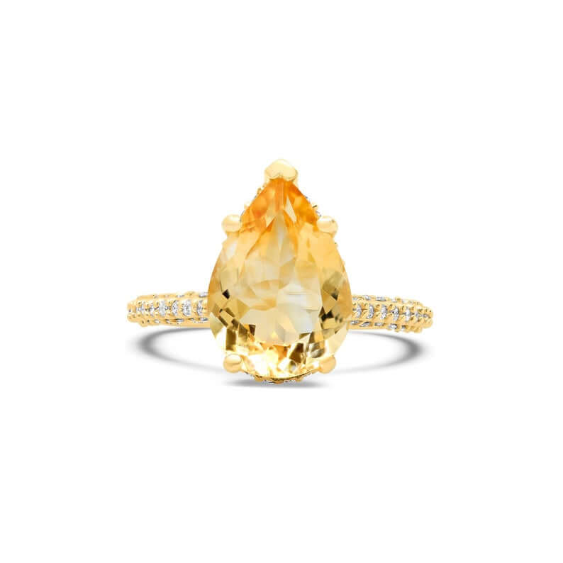 Golden beryl ring