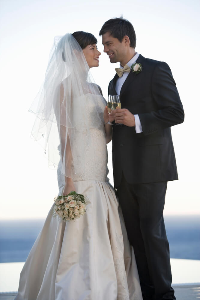 Couple at their wedding day