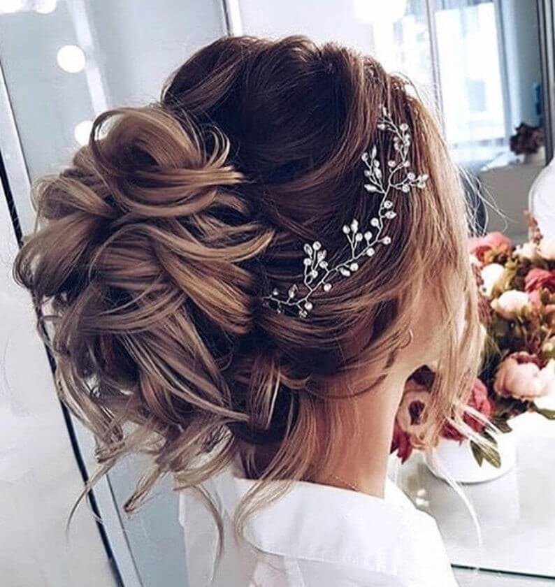 SALE Crystal and Pearl hair vine Extra Long Hair Vine Bridal image 3