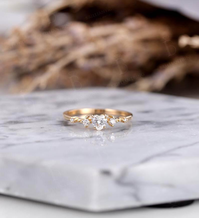 Heart cut moissanite ring