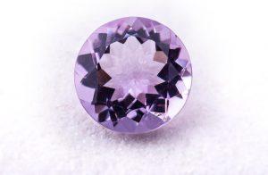 Loose purple gemstone