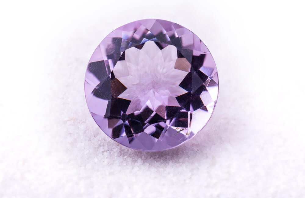 Loose purple gemstone